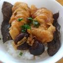 お惣菜のいかの天ぷらで楽チン夕食~いか天丼