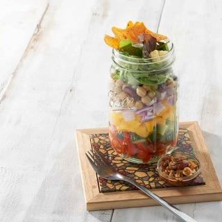 かわいい瓶詰め☆スパイシーナッツのメキシカンサラダ
