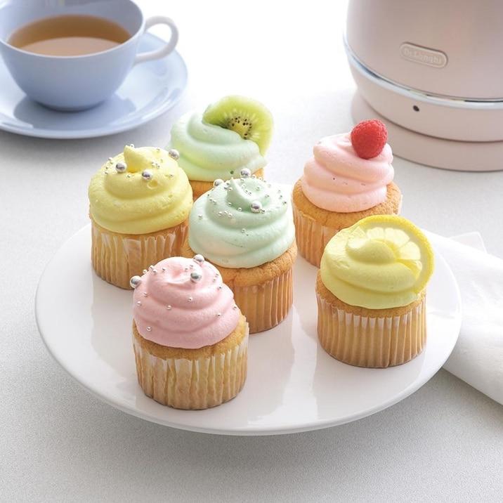 チーズクリームのカップケーキ