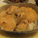 じゃがいもとおもちの明太マヨソース焼き