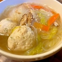 野菜たっぷり♡鶏団子と春雨のスープ