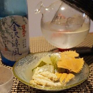 【石川食材】うちわ海老と瓜の煮物