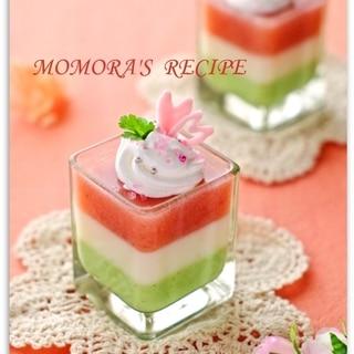 基本材料2つレンジで簡単♡雛祭りマシュマロムース