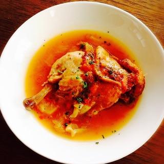 圧力鍋で簡単、トロトロ#骨付き鶏モモ肉のトマト煮