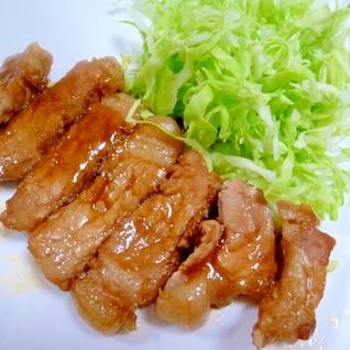 とんかつ肉で豚ロースソテー✿