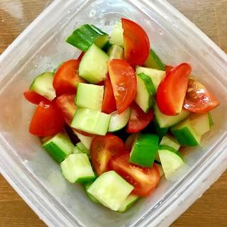 ミニトマトと胡瓜の和風サラダ