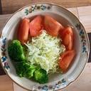 トマトブロッコリーキャベツのサラダ