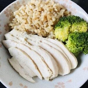 炊飯器de蒸し鶏ライス