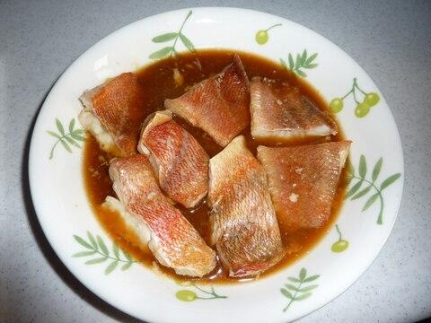 レンジで煮魚