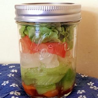コロコロ野菜のジャーサラダ
