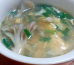 かんたん!!舞茸とニラの鶏がら中華スープ