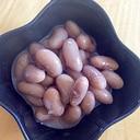 うずら豆、黒糖煮
