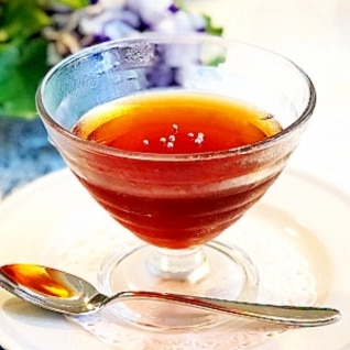 紅茶ゼリー オレンジリキュール香る大人味