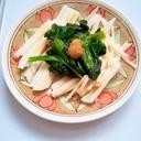 電子レンジレシピ♪小松菜と長芋の和え物