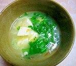 春菊と白ねぎのお味噌汁
