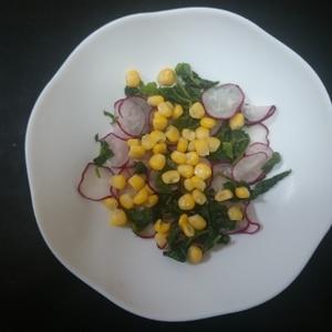 ラディッシュの葉っぱも食べよう!生野菜サラダ