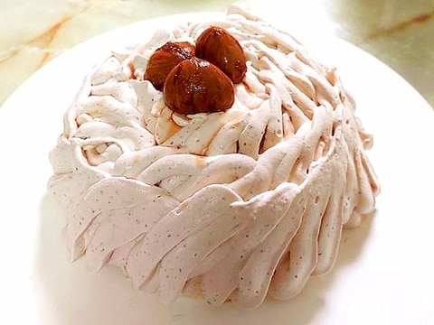 栗の渋皮煮で!マロンのドームムースケーキ♪