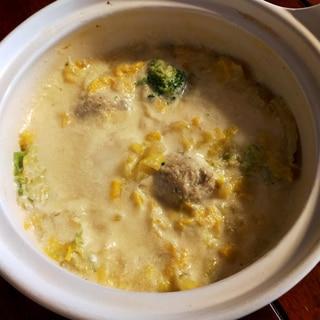 超簡単!鶏団子と白菜の豆乳スープ