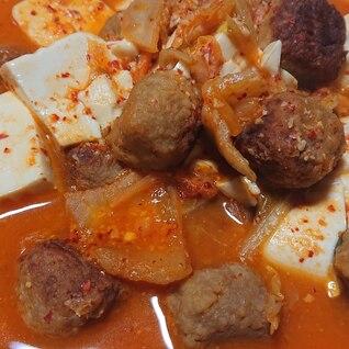 豆腐と肉団子のキムチ煮