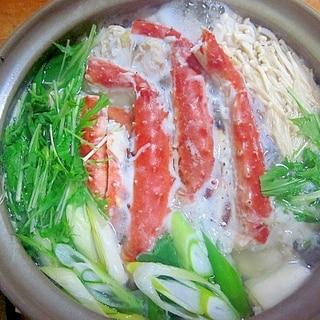 シンプルな~カニ鍋