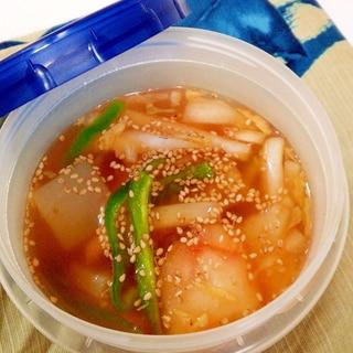 白菜たっぷりキムチスープ