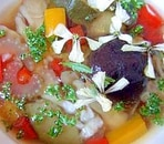 イタリアンカラーで野菜スープ
