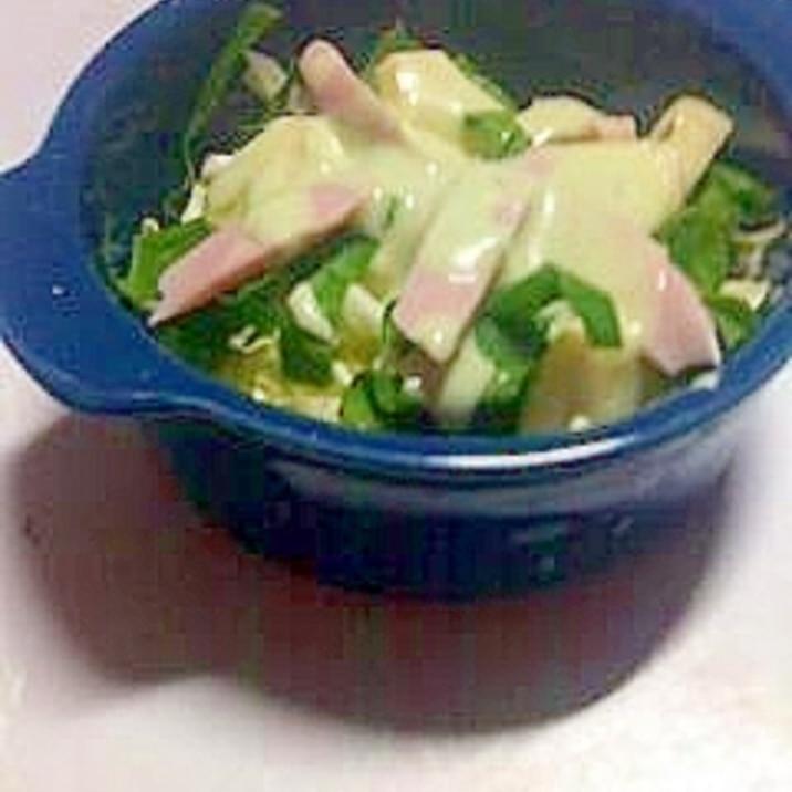 りんご&サラダほうれん草の野菜サラダ
