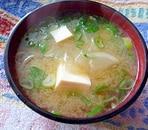 カブと豆腐の味噌汁