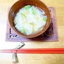キクイモチップスで簡単★お味噌汁