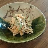 秋の果物☆柿と小松菜の白和え