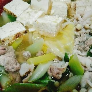 牡蠣出汁のしょうがキャベツ鍋