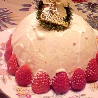 白いクリスマスケーキ