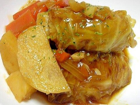 塩麹を使って味付け★トマト濃厚ロールキャベツ