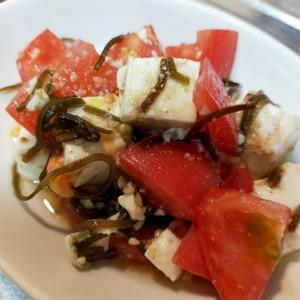 ミニトマトと塩昆布の豆腐サラダ