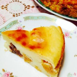 ノンオイル♡YGで柿とレーズンのチーズケーキ風