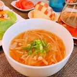 ピリ辛♡もやしの味噌スープ