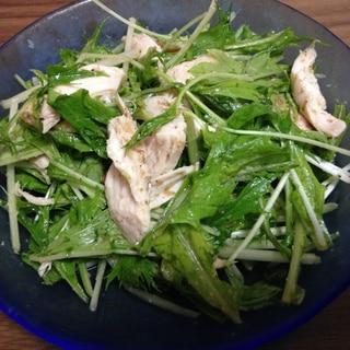 ササミと水菜の棒棒鶏風サラダ☆