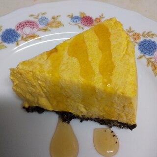 かぼちゃのレアチーズケーキ風