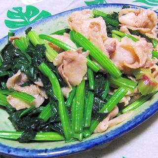 超簡単で美味しい!ほうれん草と豚肉の炒め煮