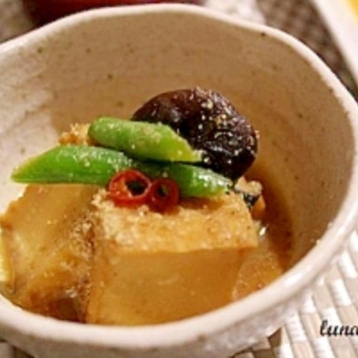 小鉢でもう一品 ☆ 厚揚げとシイタケの味噌煮