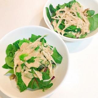 子持ち高菜で作る☆エノキとほうれん草の簡単サラダ