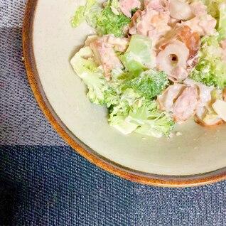 ブロッコリーとちくわとツナのサラダ