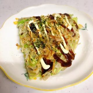 蕎麦入りお好み焼き✨蕎麦リメイク