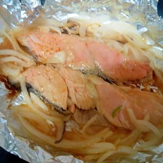 鮭とエリンギのホイル焼き