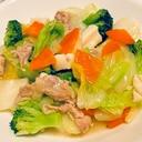 白菜とブロッコリーの中華炒め