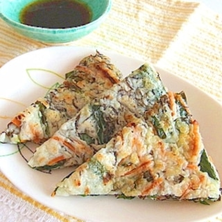 沖縄の味★もずくのヒラヤーチー