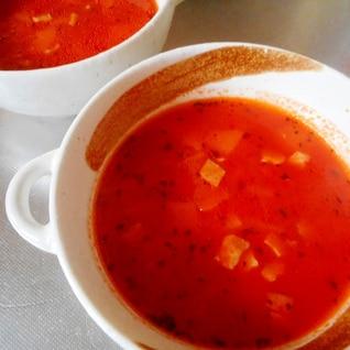 人参とベーコンのトマトスープ