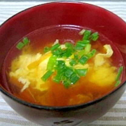 簡単!ふんわり玉子と人参の中華風スープ