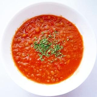 トマト缶で作るレンズ豆スープ
