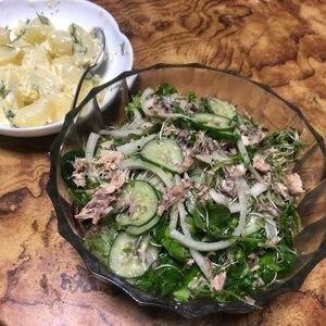 サバ缶と玉ねぎの健康サラダ